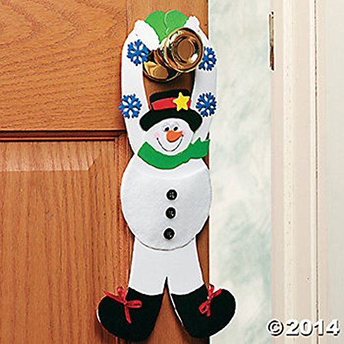 Snowman Pouch Doorknob Hanger Craft Kit/Foam/Makes 12