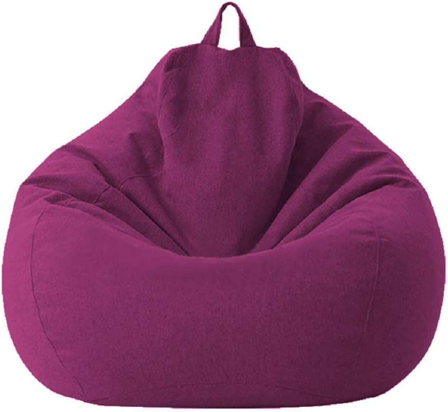 Classic Sofa Chairs Lazy Lounger Bean Bag Cover for Home Garden Lounge Living Room (purple, 7080cm)