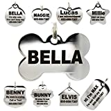 Stainless Steel Pet ID Tags - Engraved Personalized
