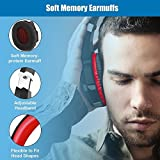 BENGOO Stereo Gaming Headset for PS4, PC, Xbox One Controller, Noise Cancelling Over Ear Headphones with Mic, LED Light, Bass Surround, Soft Memory Earmuffs for Laptop Mac Nintendo Switch Games (Red) (BX023R)