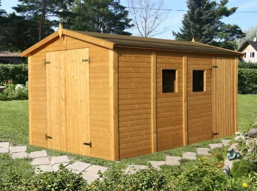 Box Casitas de madera caseta de jardín de madera de abeto 16 mm-10mq-205 X 175,5h: Amazon.es: Hogar
