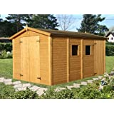 Box Casitas de madera caseta de jardín de madera de abeto 16 mm-10mq-