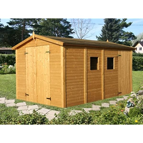 Box Casitas de madera caseta de jardín de madera de abeto 16 mm ...