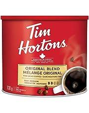 Tim Hortons Original Blend, Fine Grind Coffee, Medium Roast, 930g Can, red