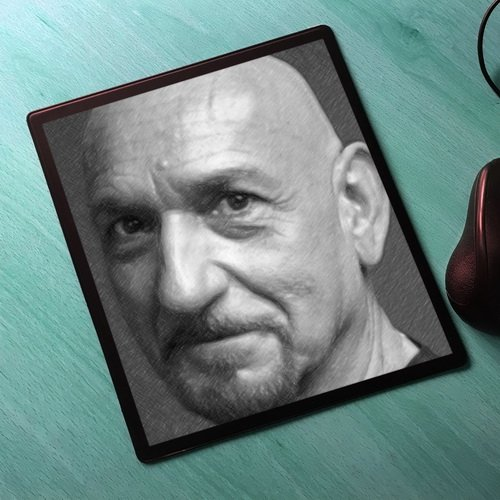 Seasons Ben Kingsley - Original Art Mouse Mat #js002