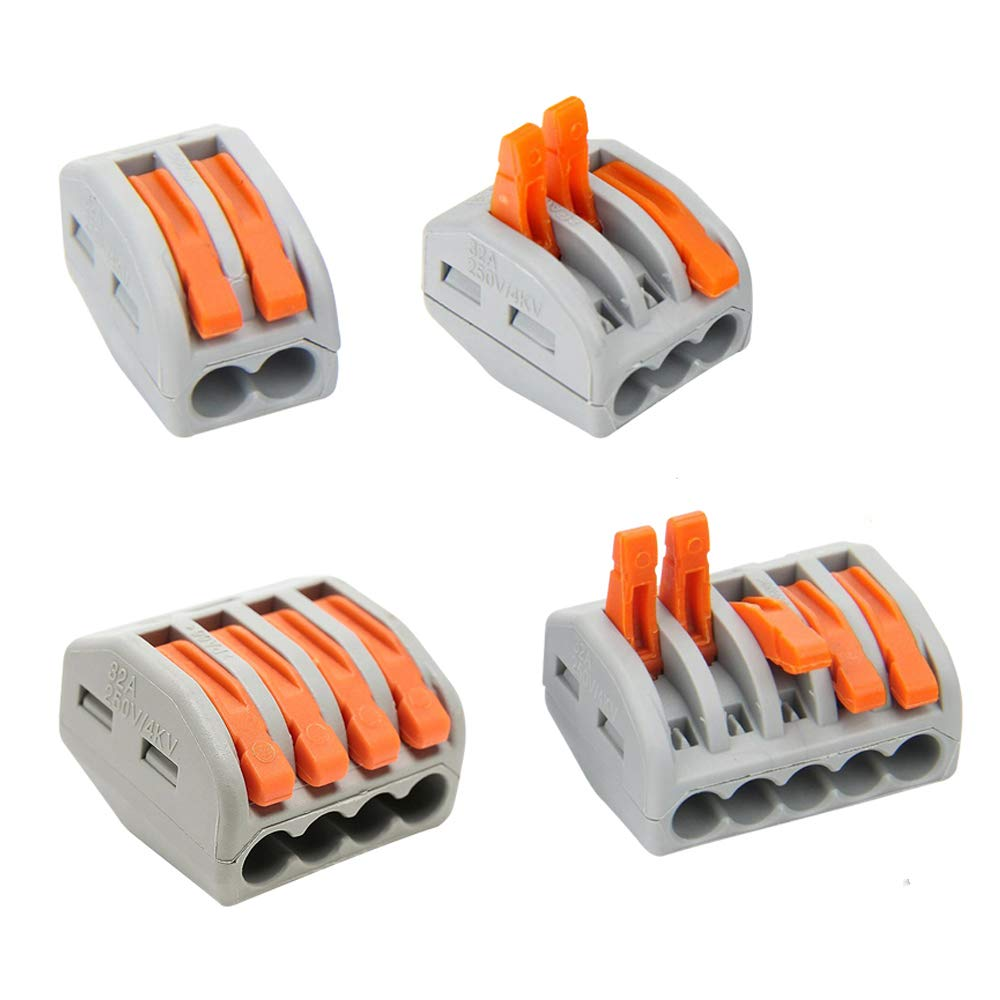 PCT-214 40 PCS PCT-212 PCT-215 SPACE PCT-213 40 PCS Lever-Nut,Wire Connector,Assortment Pack Conductor Compact Wire Connectors, 20 PCS 20 PCS 120PCS