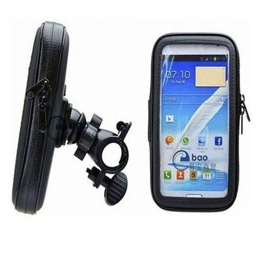 K-S-Trade Fahrrad Halterung f/ür HTC Desire 526G Dual SIM Handyhalterung Halter Lenkstange Fahrradhalterung Motorrad Bike Mount Wasserabweisend regensicher schwarz 1x