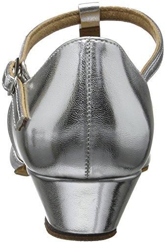 Diamant Mädchen Tanzschuhe 031-030-045, Zapatos de Tacón para Niñas Plateado (366 / Candy)