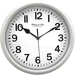 Mainstay Sterling and Noble 8.78 Analog Display Wall Clock - White