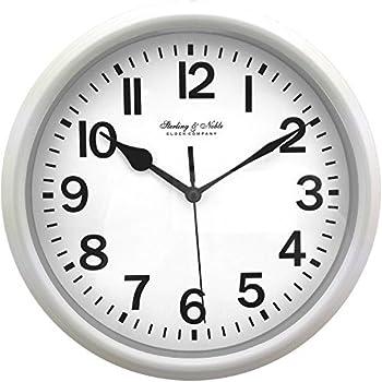Amazon Com Mainstay Sterling Amp Noble Wall Clock Black