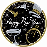 New Year's Black Tie Affair - Dessert Plates Party Accessory
