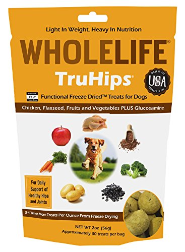 Whole Life Pet TruHips Treats for Dogs-Healthy Hip and Joint Chicken Flavor, 2.0-Ounce