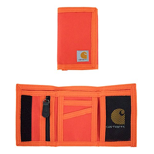 Carhartt Men's Extremes Trifold Wallet, Blaze Orange,