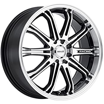 Rim 5x100 /& 5x4.5 with a 42mm Offset and a 73.00 Hub Bore Partnumber 302MB-7751842 Drifz Vortex 17x7.5 Machined Black Wheel