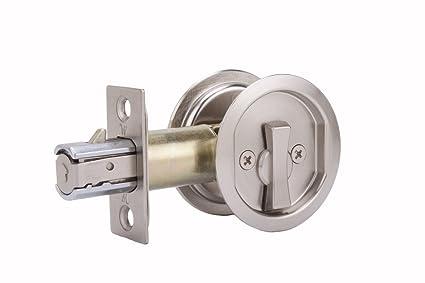 Amazoncom Weslock 677 Round Privacy Sliding Pocket Door Lock Satin Nickel Beauty