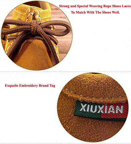 Genuine Women Flat Sneaker Lace xian Leather Shoes Coffee Xiu Snail XIUXIAN Casual up UpCE0wnxq
