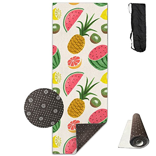 Kit Kiwi Deluxe Party - QNKUqz Fruit Party Watermelon Pineapple Kiwi Deluxe Yoga Mat Aerobic Exercise Pilates