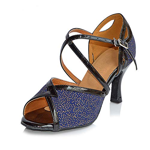 Ballroom Shangyi Latin Modern Dance Shoes Square Blue Adult Women's 4O04qS
