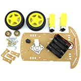 Ivolador Motor Robot Car Chassis Kit with Speed Encoder wheels and Battery Box