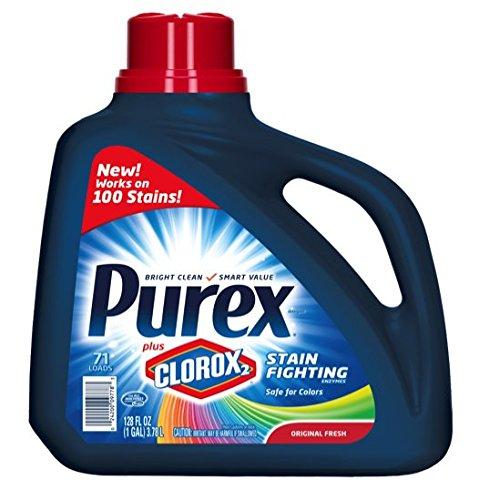 Purex Liquid Laundry Detergent plus Clorox2 Stain Fighting Enzymes, Original Fresh, 128 oz (71 loads)