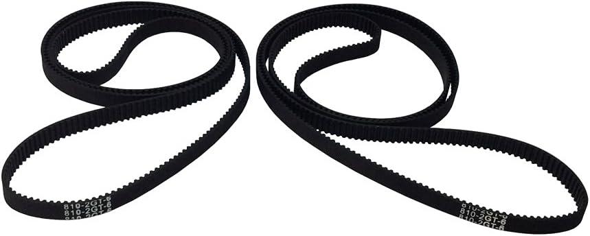 2Pcs 3D Printer Belt Closed Loop Rubber GT2 Belt 2GT-6 Black 280mm