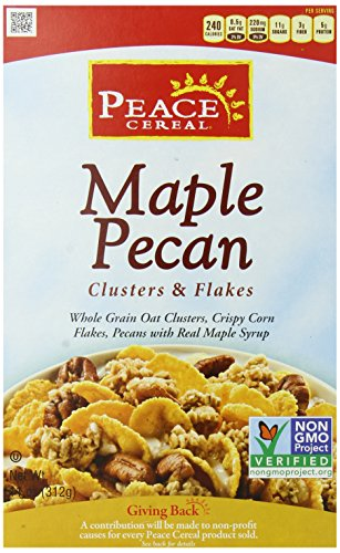 Peace Clusters and Flakes Cereal, Maple Pecan, 11 Ounce (Pack of (Maple Pecan Cereal)
