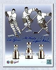 Teeder Kennedy Meeker & Lynn Triple Signed Maple Leafs Kid Line 8x10 Photo #