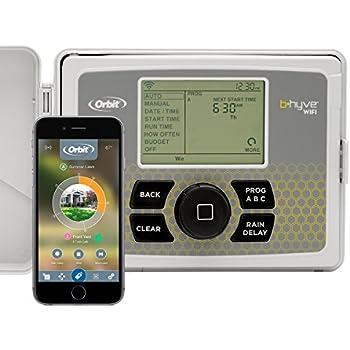 Orbit 57946 B-hyve Smart Indoor/Outdoor 6-Station WiFi Sprinkler System Controller, Works with Amazon Alexa