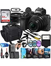 Nikon Z50 Mirrorless Digital Camera with 16-50mm Lens MFR #1633 Bundle + 64GB High Speed Memory + Slave Flash, Padded Shoulder Bag, Grip Tripod, HD Filters, Video/Photo Editing Software Package & More