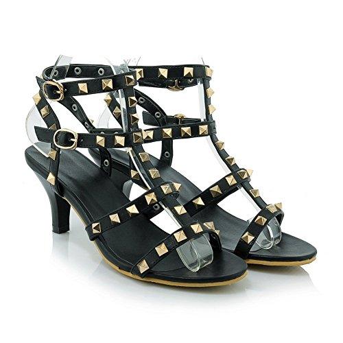 Adee , Damen Sandalen, Schwarz - schwarz - Größe: 38