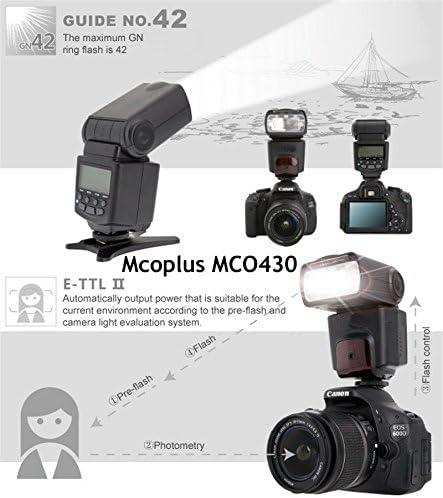 GN42 Kaavie Mcoplus MCO430N i-TTL Universal Speedlite Flash with LCD Screen for Nikon D7100 D5300 D5200 D3300 D3200 D3100 D600 D700 D750 D800 D90 D80 D300s