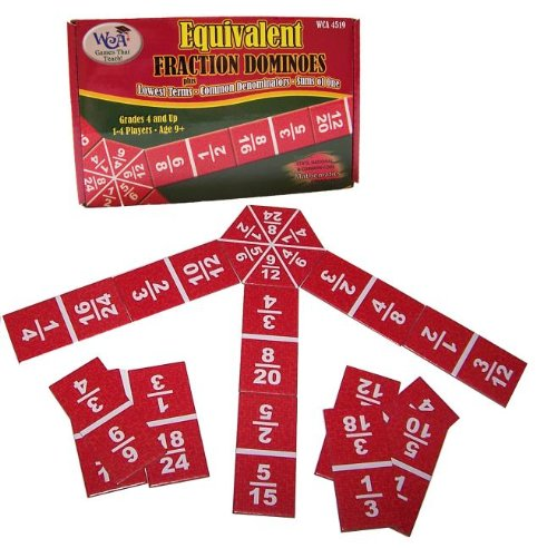 Learning Advantage Equivalent Fraction Dominoes: Lowest Terms, Common Denominators, Sums of One by Learning Advantage