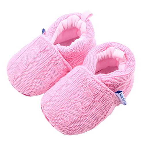 Image of Beeliss Baby Girls Loafers Knitted Cirb Shoes