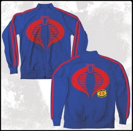 G.I. Joe Cobra Enemy Men's Track Jacket Blue (S) (Eisenhower Gi Joe)