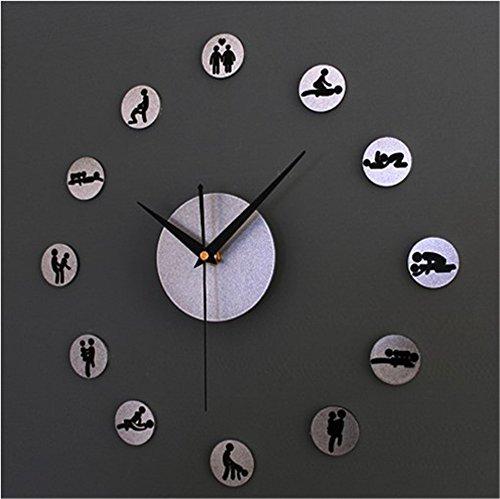 Boudoir Table Clock - Silent Wall Clock dustproof Glass Cover Metal Texture Personality Creative Wall Clock DIY Clock Personality Fashion DIY Combination Clock Table Boudoir, intuitive Digital Display