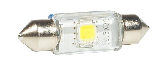 Philips 128596000KX1 Festoon - Bombilla LED C5W decorativa de exterior, color azul: Amazon.es: Oficina y papelería
