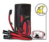 SealBuddy FIJI Panoramic Snorkel set + Premium Travel Gear Bag (Red/Black, Large/XL Size 8 to 12)