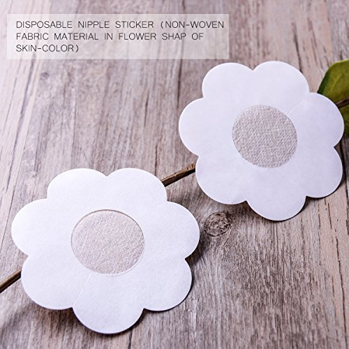 be25fd4da8878 Image Unavailable. Image not available for. Color  Tinksky 10 Pairs  Disposable Petals Pasties Breast Nipple Cover Stickers ...