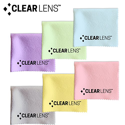 CLEARLENS Chamois Cleaning Cloth (6) with Free Premium Non-Slip Cloth (Clearlens)