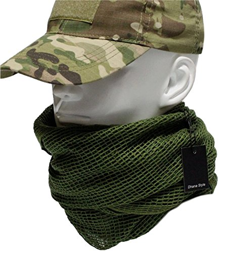 - Dhana Style Sniper Veil Tactical Camouflage Mesh Net Camo Scarf Army Shemagh Ghillie Netting for Wargame, Air Soft, Paint Ball, Sports & Other Outdoor Activities Type:SVMN (Green)