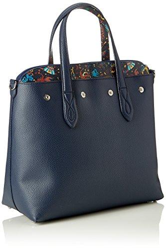 Piero Guidi Damen Tote Bag, 32x30x14 centimeters Blau (Blu Notte)