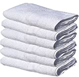 GOLD TEXTILES 60 New White 22X44 100% Cotton Economy Bath Towels Extra Absorbent Quick Dry (5 Dozen)