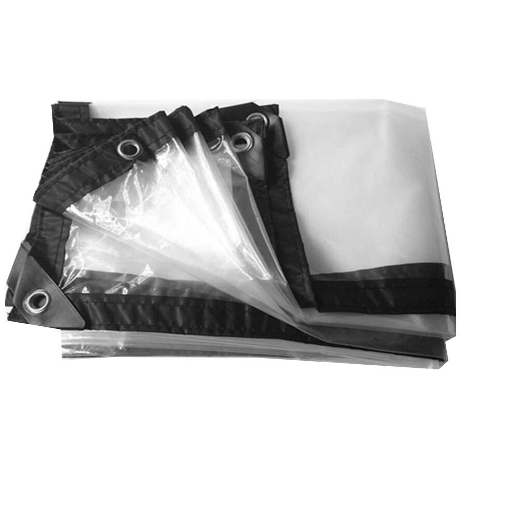 2×4m Bache YNN Transparente Transparente imperméable extérieure imperméable de Tissu imperméable de Pluie étanche (Taille   2×5m)