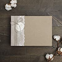 Wedding Album Country Ructic Lace Guest book, Instax Photo Album - by Liumy