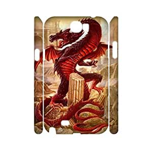WJHSSB Red Dragon Customized Hard 3D Case For Samsung Galaxy Note 2 N7100