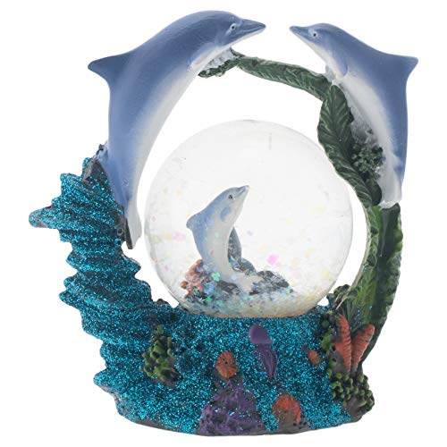- Elanze Designs Swimming Dolphin Family Figurine 45MM Glitter Water Globe Decoration
