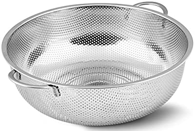 Utopia Kitchen Stainless Steel Colander - Micro-Perforated Strainer