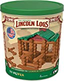 Toys : LINCOLN LOGS – 100th Anniversary Tin - 111 All-Wood Pieces – Ages 3+ Construction Education Toy