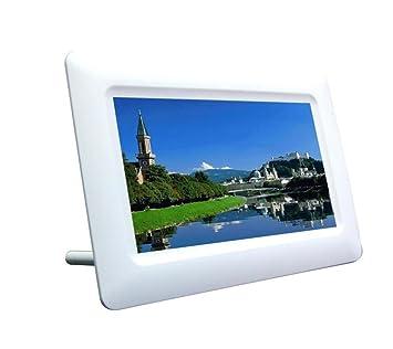 Marcos digitales Marco de fotos digital 7 pulgadas de alta resolución con pantalla grande de formato completo de una sola función Marcos digitales, ...