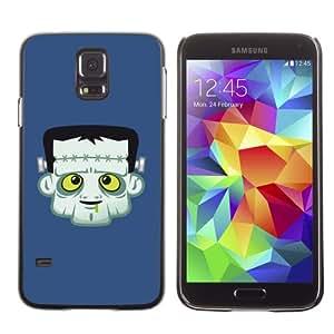 CaseLord Plastic Hard Case Cover for Samsung Galaxy S5 V SM-G900 ( Funny Frankenstein Illustration )